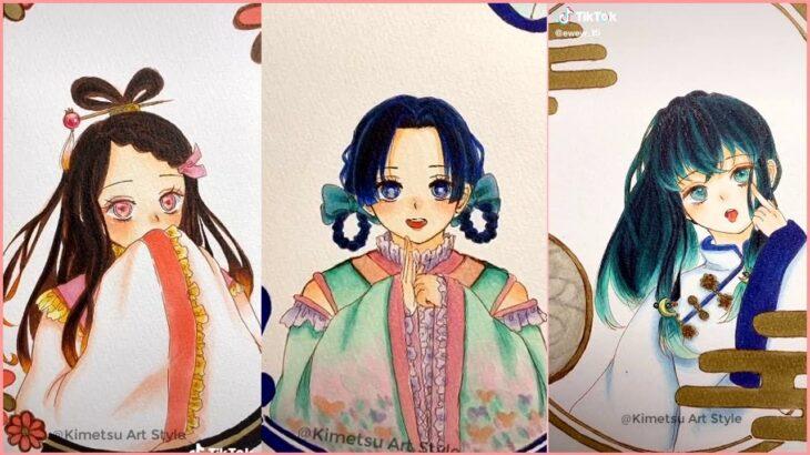 【鬼化】 ティックトック絵 / 鬼滅の刃イラスト ( Kimetsu no Yaiba Painting ) – Drawing Painting Art Compilation Ep.28