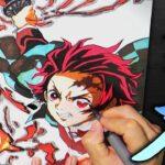 【鬼滅の刃】炭治郎を描いてみた Drawing Tanjiro ヒノカミ イラスト