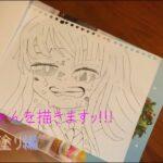 【鬼滅の刃】カナヲちゃんイラスト描いてみた。色塗り編