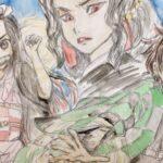 節分なので豆まきで鬼(無惨)を追い払おうとする兄妹(炭治郎と禰豆子)を描いてみました 水彩イラストメイキング 鬼滅の刃