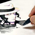 鬼舞辻無惨を描き下ろしイラスト風に描いてみた【鬼滅の刃】/ Drawing Muzan Kibutsuji from Demon Slayer