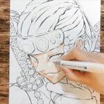 【イラスト】 鬼滅の刃 宇随天元 メイキング③ 絵 アナログ 描いてみた♪kimetsunoyaiba   Drawing Tengen Uzui demon slayer