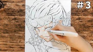 【イラスト】 鬼滅の刃 宇随天元 メイキング③ 絵 アナログ 描いてみた♪kimetsunoyaiba | Drawing Tengen Uzui demon slayer