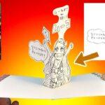 """【鬼滅の刃】7巻「ムーねずこ 略してムーコ」のイラストがとびだす!100均&コンビニコピーで簡単に作れる3Dカード!""""Demon Slayer 7"""" Nezuko Pop Up car"""