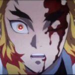 【鬼滅の刃】無限列車編 煉獄VS猗窩座のフル戦い Rengoku VS Akaza    Rengoku Death 無限列車編 demon slayer the movie mugen train