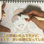 鬼滅の刃 胡蝶しのぶ seriaのイラストマーカーで描いてみました
