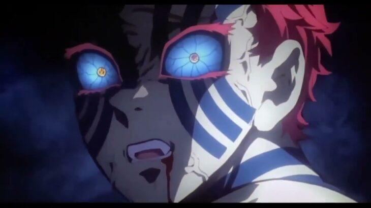 無限列車編 鬼滅の刃 猗窩座 能力登場 Akaza Scenes