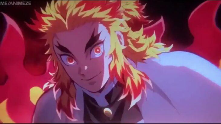 【鬼滅の刃】無限列車編 煉獄、炭治郎、伊之助敗北魘夢のフル戦い Rengoku, Tanjirou, Inosuke defeats Enmu 無限列車編