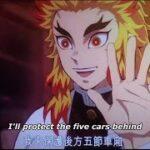 【鬼滅の刃】無限列車編 煉獄VS猗窩座のフル戦い Rengoku VS Akaza Rengoku Death 「鬼滅の刃」無限列車編 Demon Slayer
