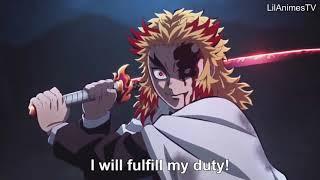 【鬼滅の刃】無限列車編 煉獄VS猗窩座の戦い Rengoku vs Akaza_Full Fight   Kimetsu no Yaiba The Movie Mugen Train Engsub