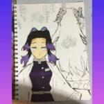 鬼滅の刃 胡蝶カナエ しのぶのオリジナルイラストを描いてみました。