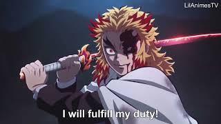 【鬼滅の刃】無限列車編 煉獄VS猗窩座の戦い Rengoku vs Akaza – Full Fight   Kimetsu no Yaiba The Movie Mugen Train Engsub
