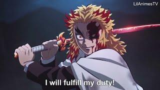 【鬼滅の刃】無限列車編 煉獄VS猗窩座の戦い Rengoku vs Akaza_Full Fight _Kimetsu no Yaiba The Movie Mugen Train [EnglSub]