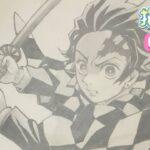 【炭治郎書き方】鬼滅の刃 描き方 2期 アイキャッチ イラスト ゆっくり2021年7月最新版 how to draw Tanjiro from demon slayer 귀멸의 칼날 鬼滅之刃