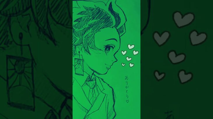 #Shorts 【炭治郎】シャーペンなのに一発描き【鬼滅の刃イラスト】【Demon slayer】Kimetsu No Yaiba│Tanjiro
