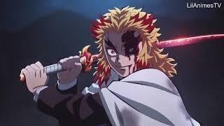 【鬼滅の刃】無限列車編 煉獄VS猗窩座の戦い Rengoku vs Akaza   Full Fight   Kimetsu no Yaiba The Movie Mugen Train Englis