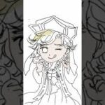 デジタルで 童磨ちゃんの milkyバージョンのイラスト描いてみたよ🖌️✨#ショート