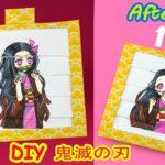 【鬼滅の刃】折り紙 簡単 💖 ねずこ絵文字DIYアニメーションカード 💖 Nezuko Emoji DIY Animated Card 💖Origami Tutorial【鬼滅の刃 DIY】#46