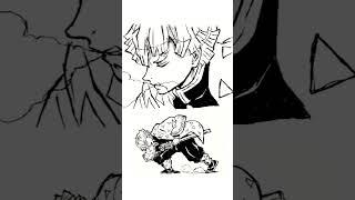 【鬼滅の刃】「雷の呼吸『霹靂一閃』」我妻善逸一発描きしてみた One-shot drawing of Agatsuma Zenitsu [Demon slayer]