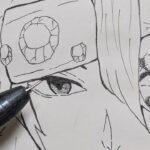 【アナログ】きめつのやいばイラストメイキング/宇髄天元(てんげん)髪下ろしVerを模写して描いてみた!Drawing Tengen Uzui
