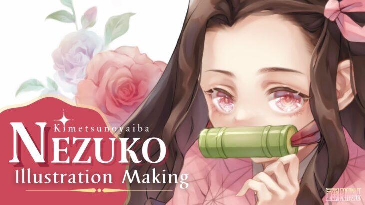 【禰豆子 ✦ 描いてみた 】 イラストメイキング ▸▸ Illustration Making / №2 【 鬼滅の刃/クリスタ 】