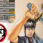 【鬼滅の刃】リアルに時透無一郎を描いてみた。Kimetsu no yaiba イラスト I realistically drew Muichirou Tokito.